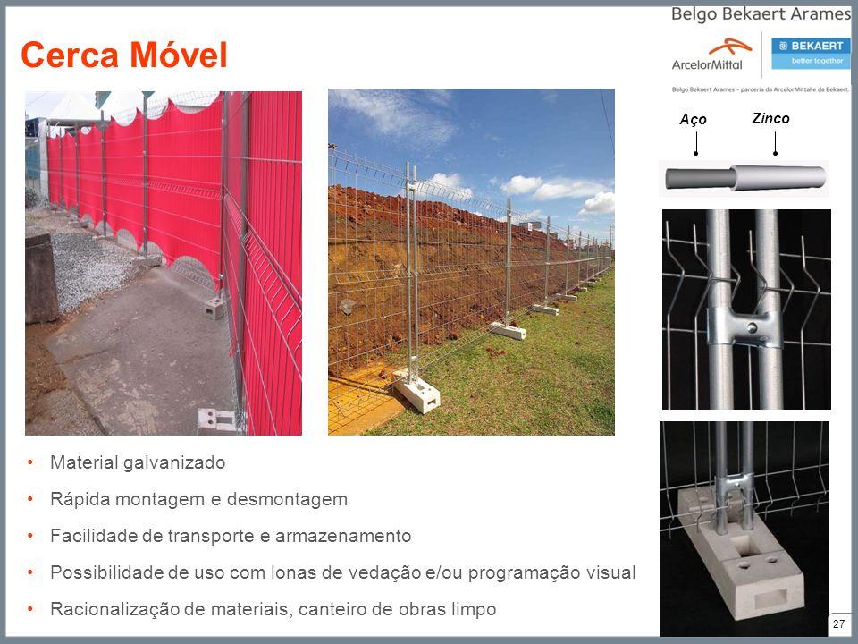 Cerca Móvel Material galvanizado Rápida montagem e desmontagem