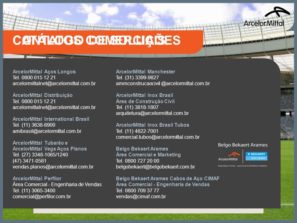 CATÁLOGO DE SOLUÇÕES CONTATOS COMERCIAIS ArcelorMittal Aços Longos