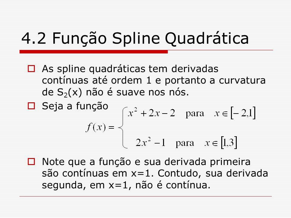 4.2 Função Spline Quadrática