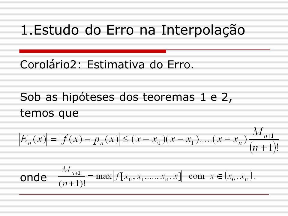 1.Estudo do Erro na Interpolação