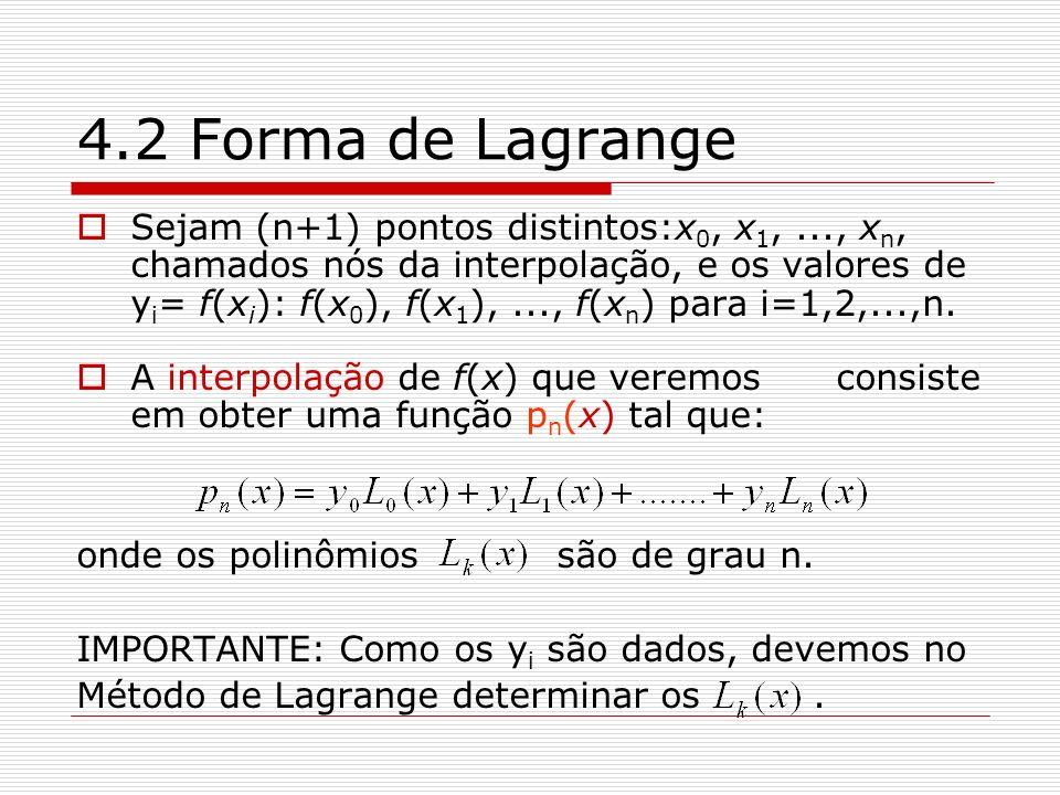 4.2 Forma de Lagrange