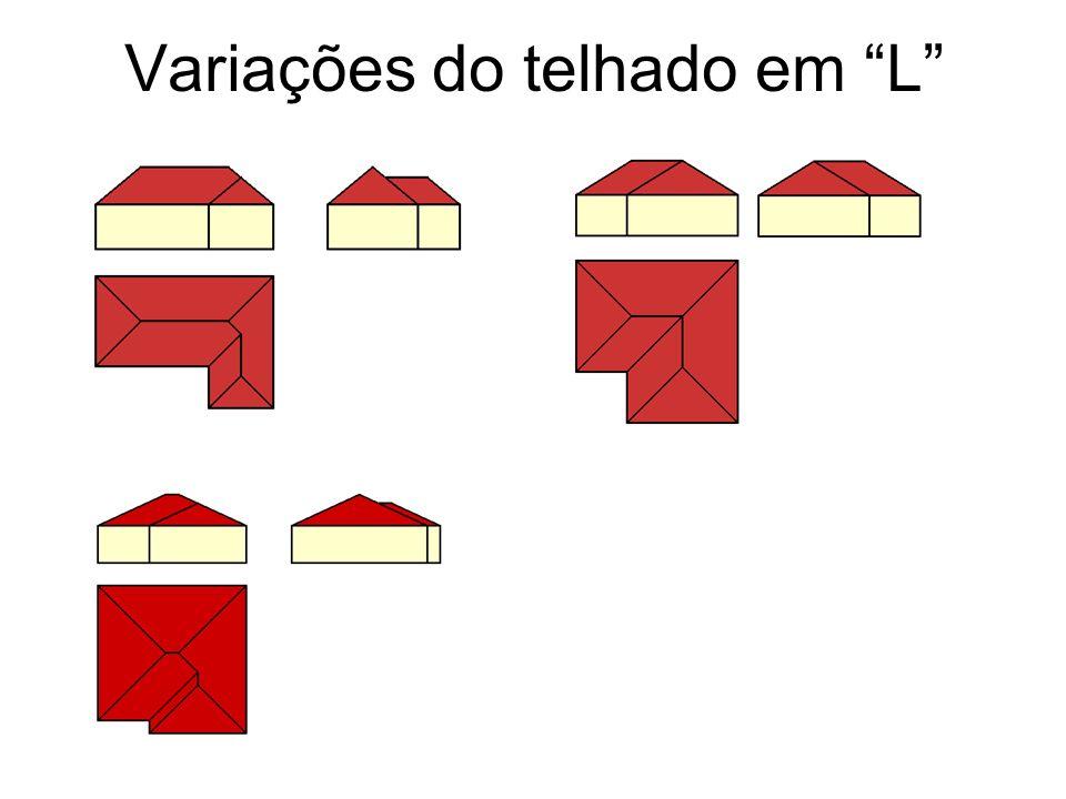 Variações do telhado em L