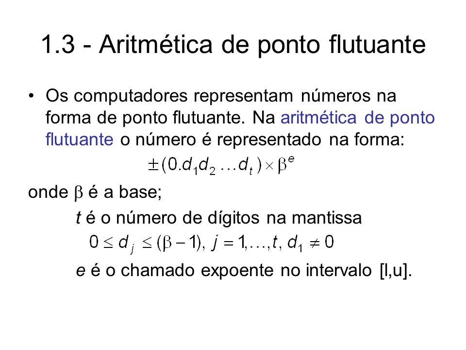 1.3 - Aritmética de ponto flutuante