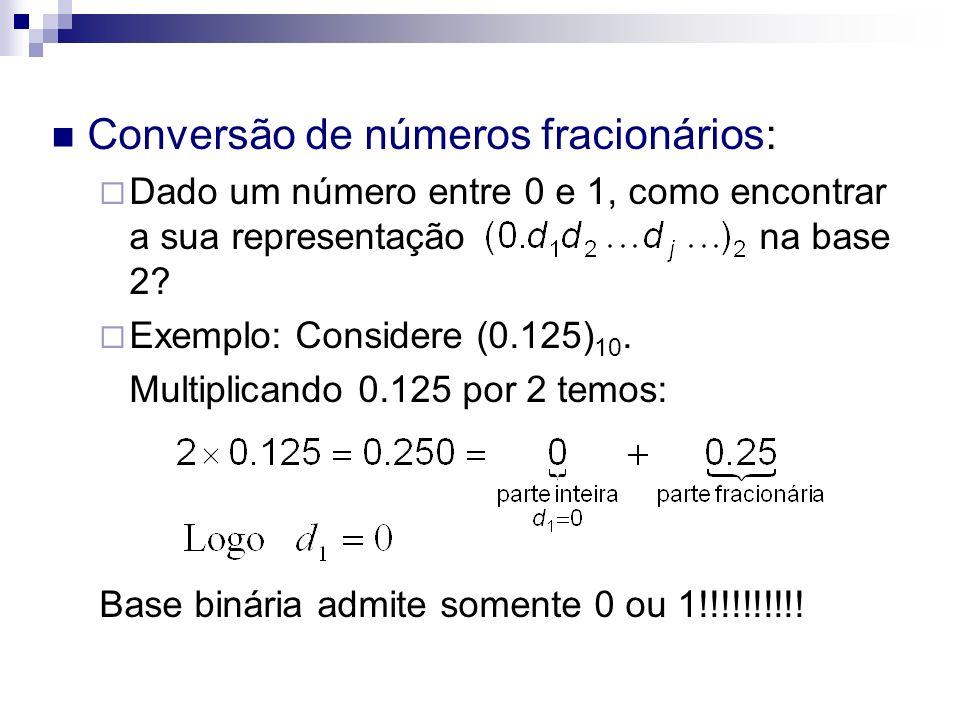 Conversão de números fracionários: