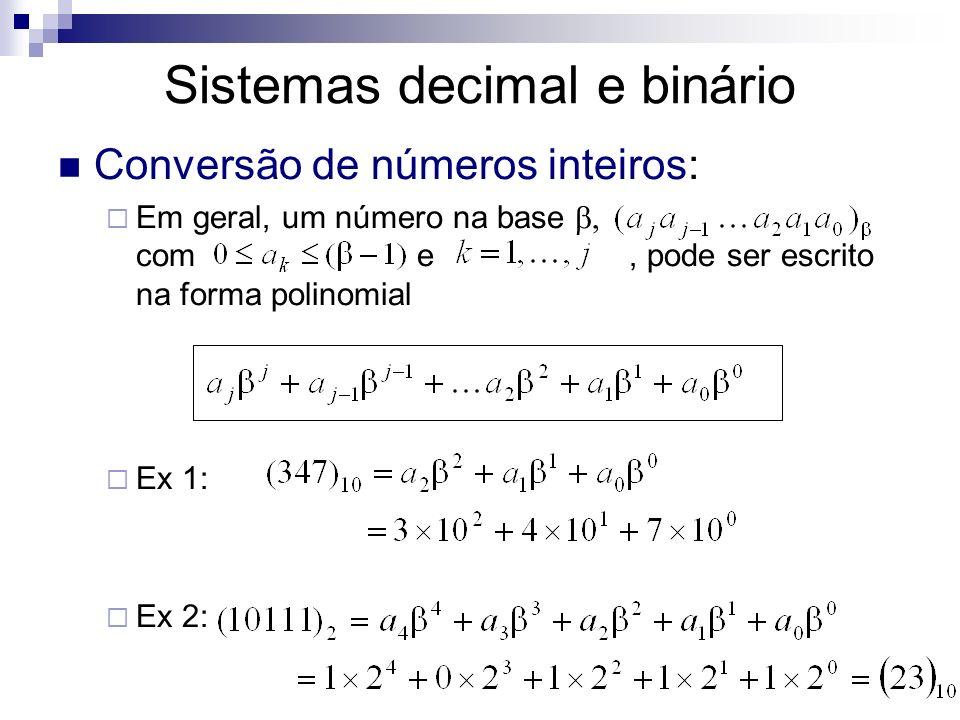Sistemas decimal e binário
