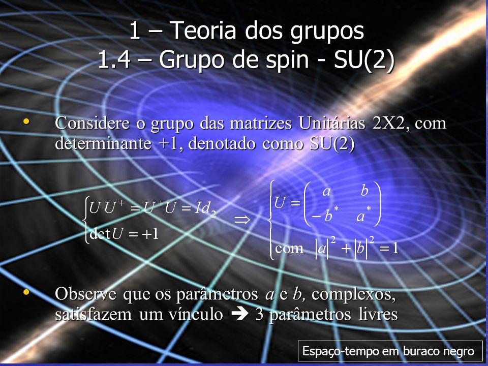 1 – Teoria dos grupos 1.4 – Grupo de spin - SU(2)