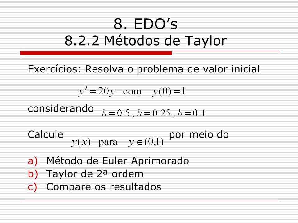 8. EDO's 8.2.2 Métodos de Taylor