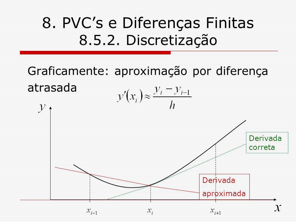 8. PVC's e Diferenças Finitas 8.5.2. Discretização