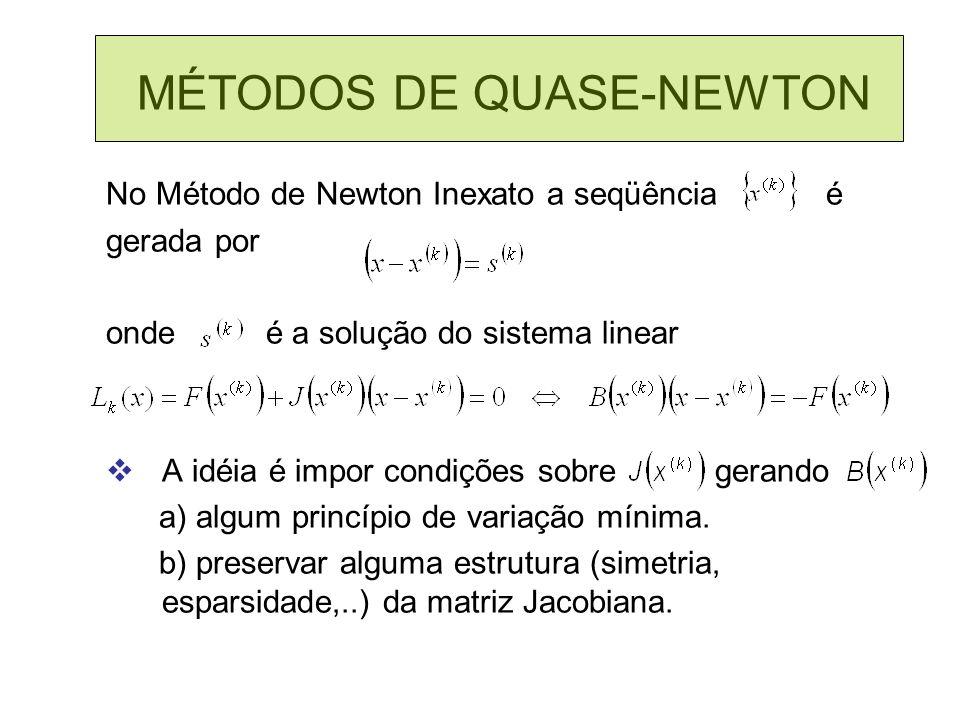 MÉTODOS DE QUASE-NEWTON