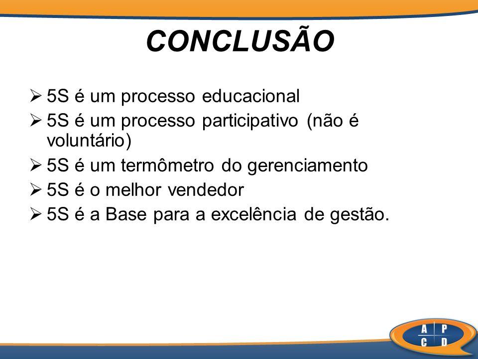 CONCLUSÃO 5S é um processo educacional