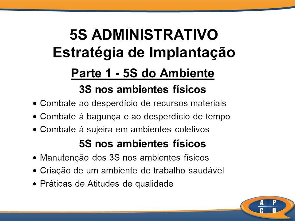5S ADMINISTRATIVO Estratégia de Implantação
