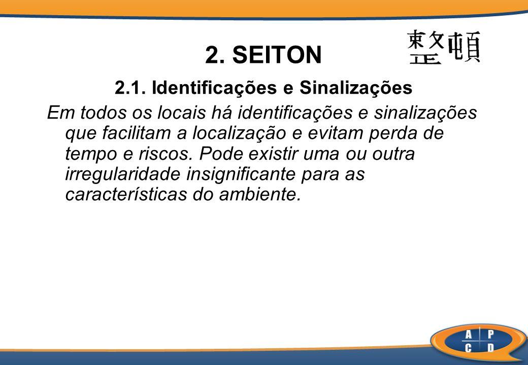 2.1. Identificações e Sinalizações