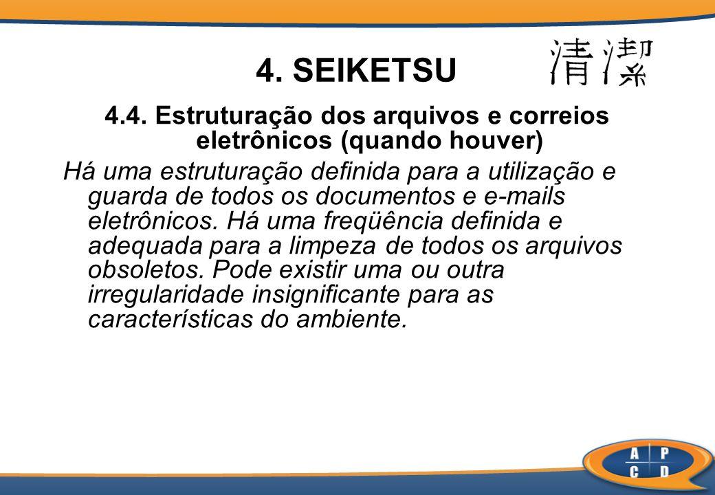 4.4. Estruturação dos arquivos e correios eletrônicos (quando houver)