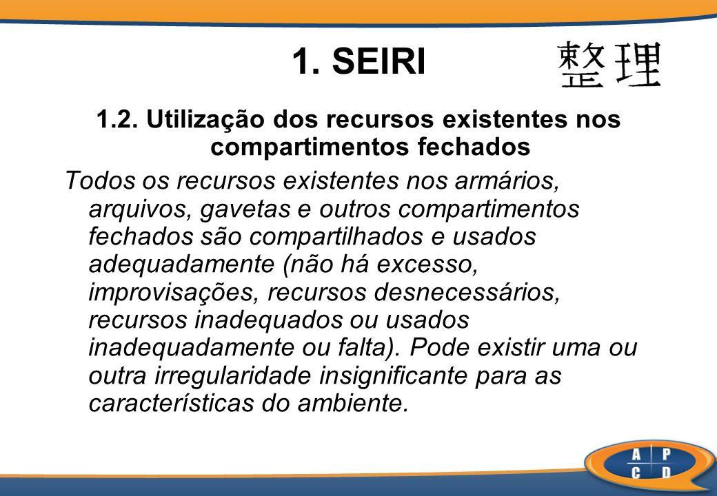 1.2. Utilização dos recursos existentes nos compartimentos fechados