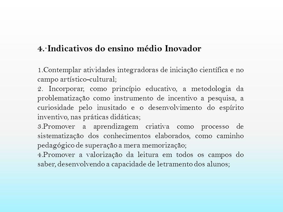 4.·Indicativos do ensino médio Inovador