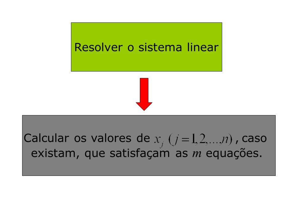 Resolver o sistema linear
