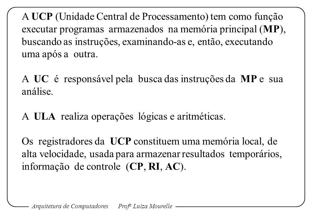 A UCP (Unidade Central de Processamento) tem como função