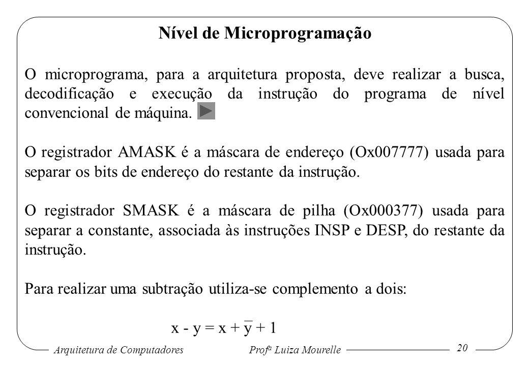 Nível de Microprogramação