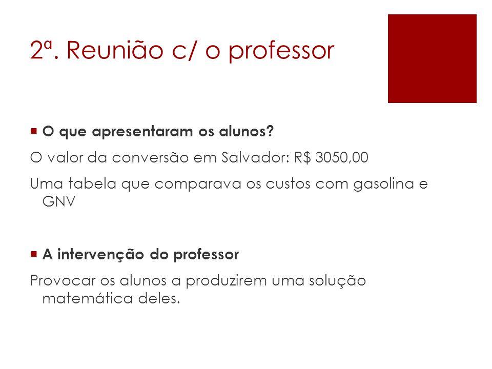 2ª. Reunião c/ o professor