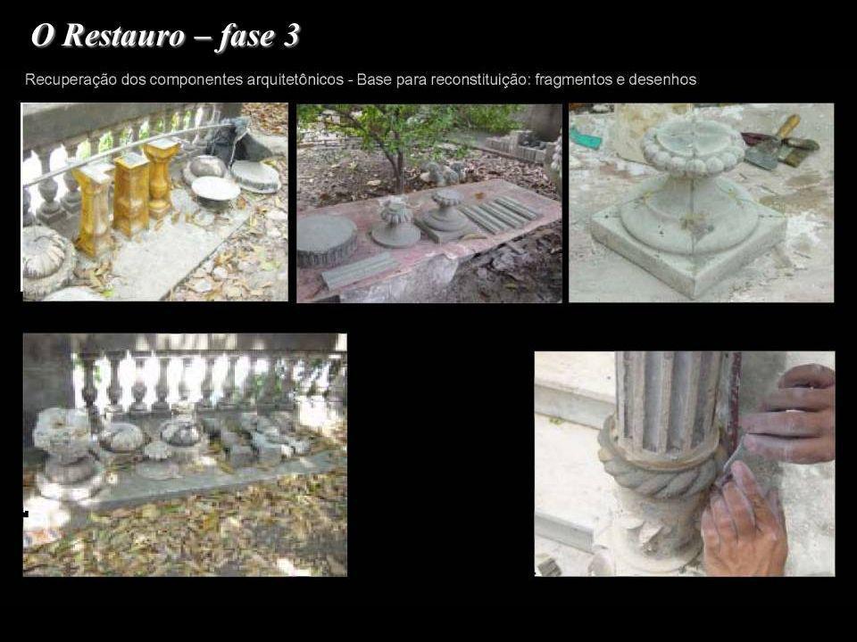 O Restauro – fase 3 3.Restauro das Fachadas