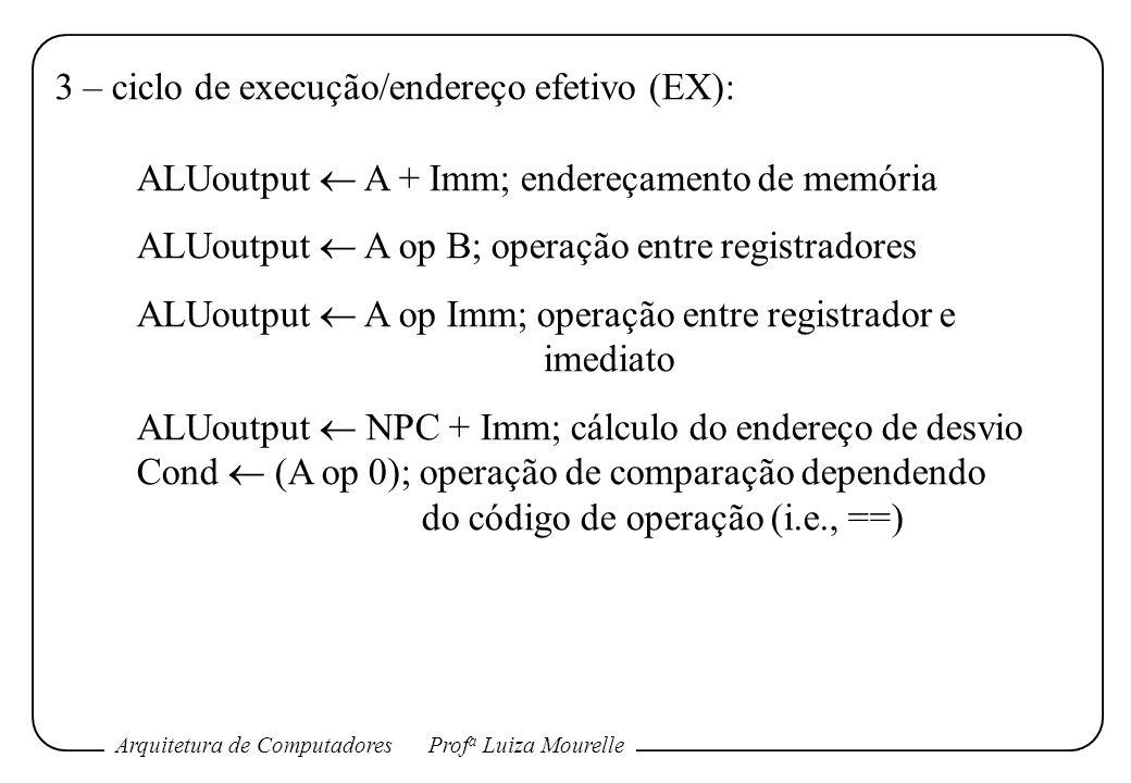 3 – ciclo de execução/endereço efetivo (EX):