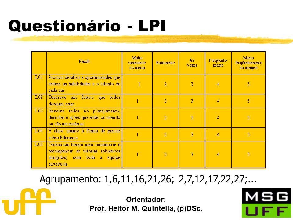 Questionário - LPI Agrupamento: 1,6,11,16,21,26; 2,7,12,17,22,27;...