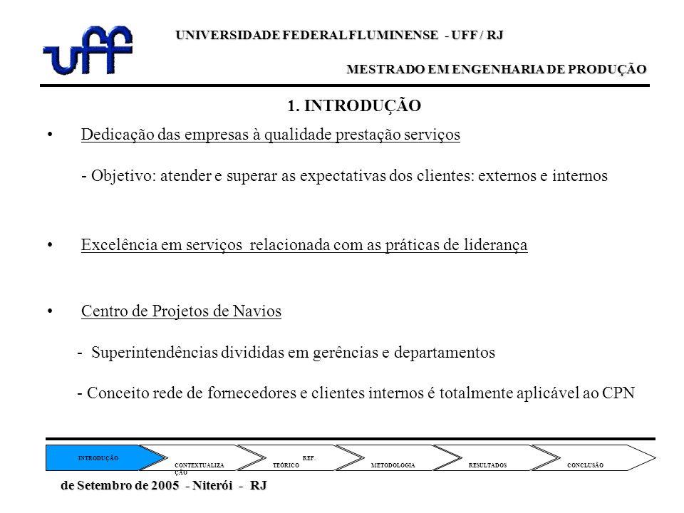 Dedicação das empresas à qualidade prestação serviços