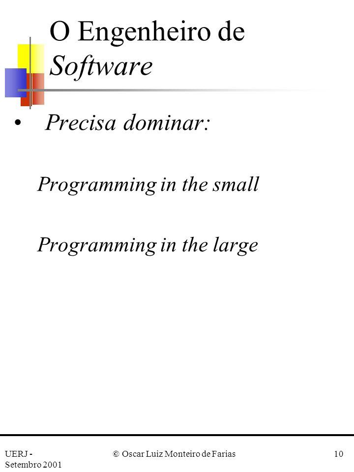 O Engenheiro de Software