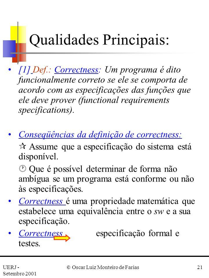 Qualidades Principais: