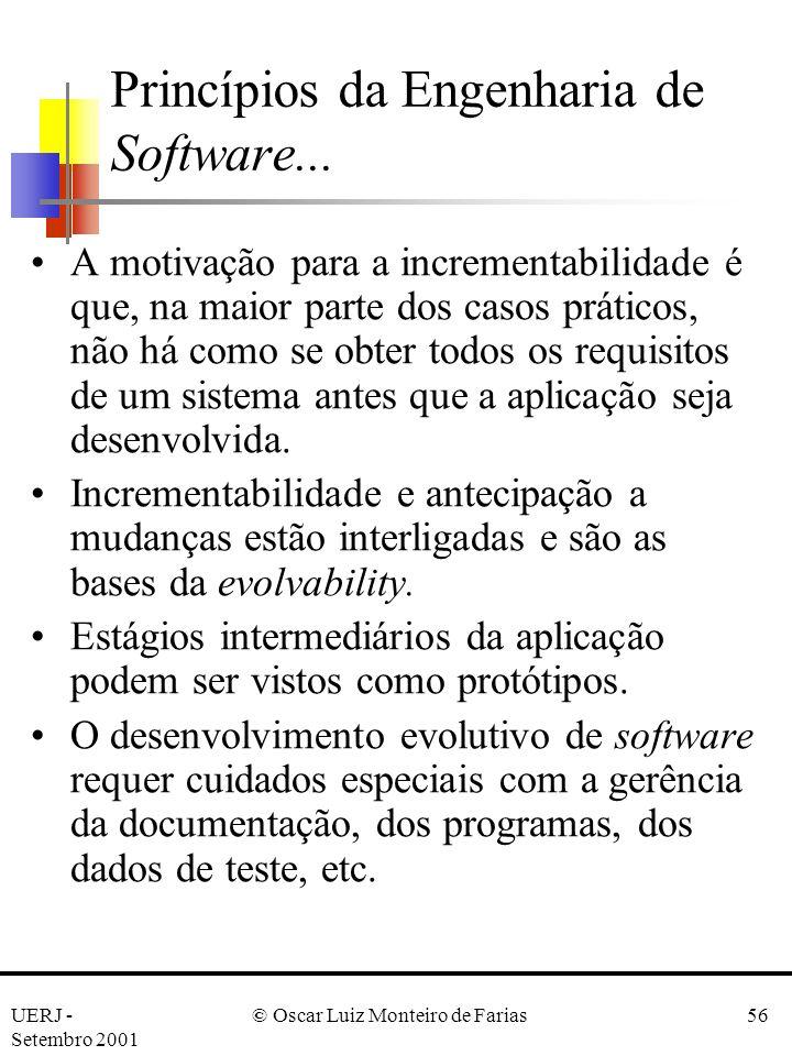 Princípios da Engenharia de Software...