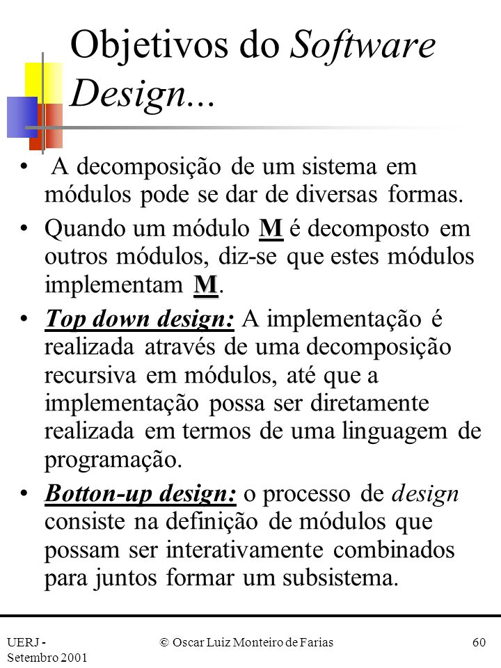 Objetivos do Software Design...