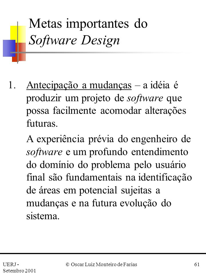 Metas importantes do Software Design