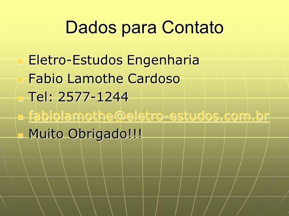 Dados para Contato Eletro-Estudos Engenharia Fabio Lamothe Cardoso