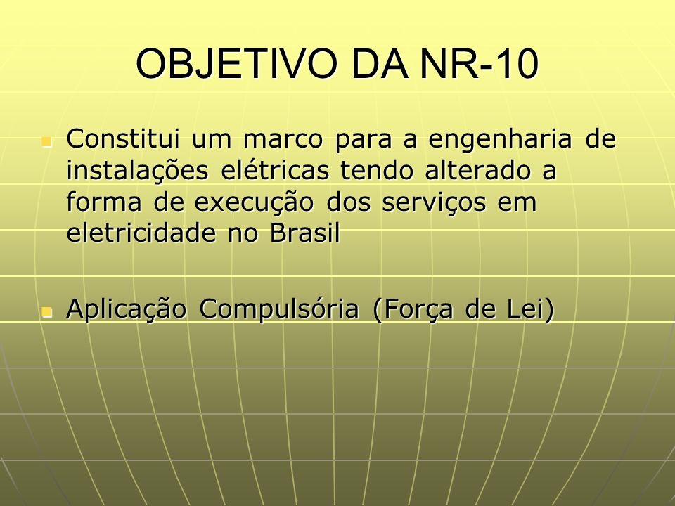 OBJETIVO DA NR-10