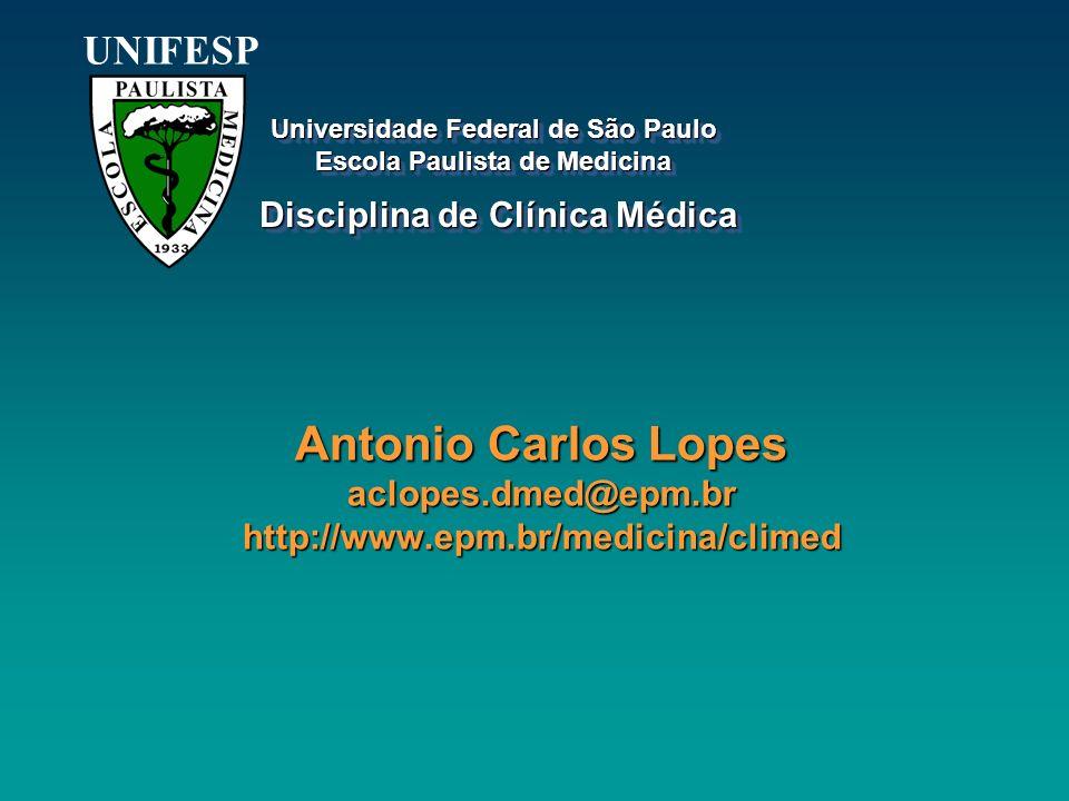 UNIFESP Universidade Federal de São Paulo. Escola Paulista de Medicina. Disciplina de Clínica Médica.