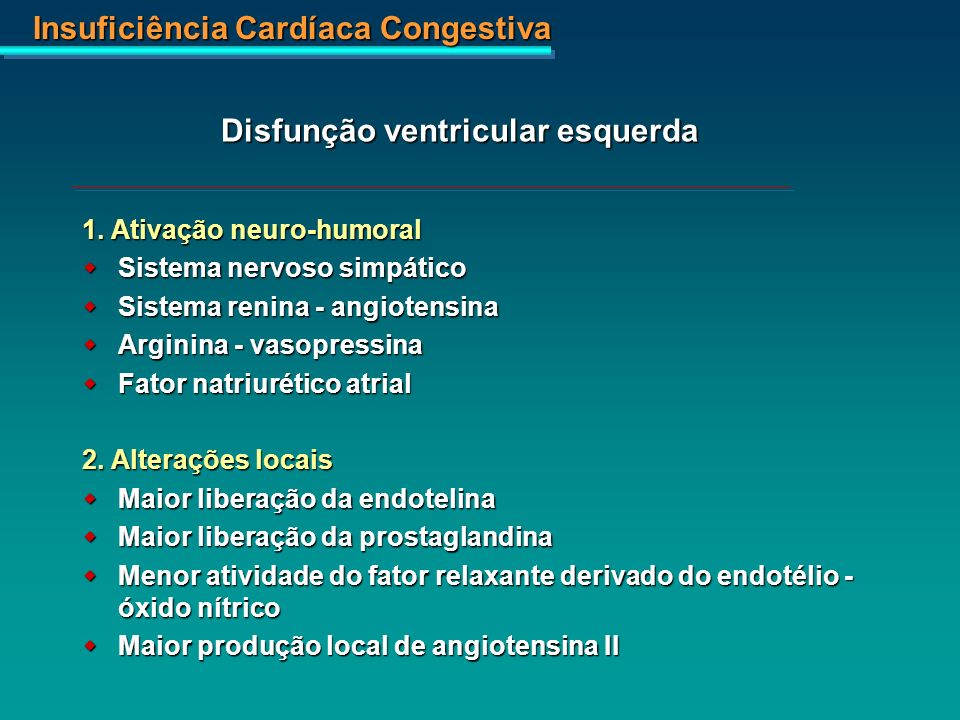 Disfunção ventricular esquerda