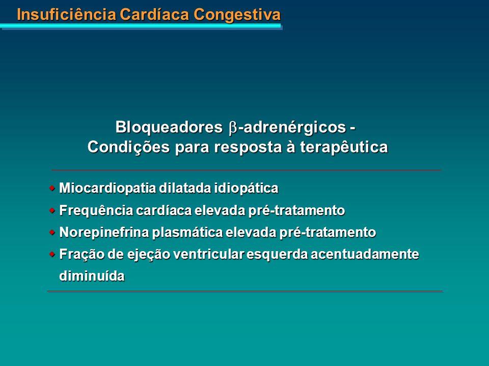 Bloqueadores b-adrenérgicos - Condições para resposta à terapêutica