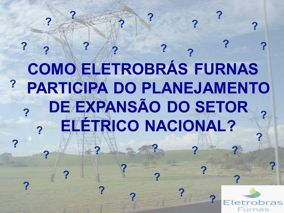 COMO ELETROBRÁS FURNAS PARTICIPA DO PLANEJAMENTO DE EXPANSÃO DO SETOR ELÉTRICO NACIONAL