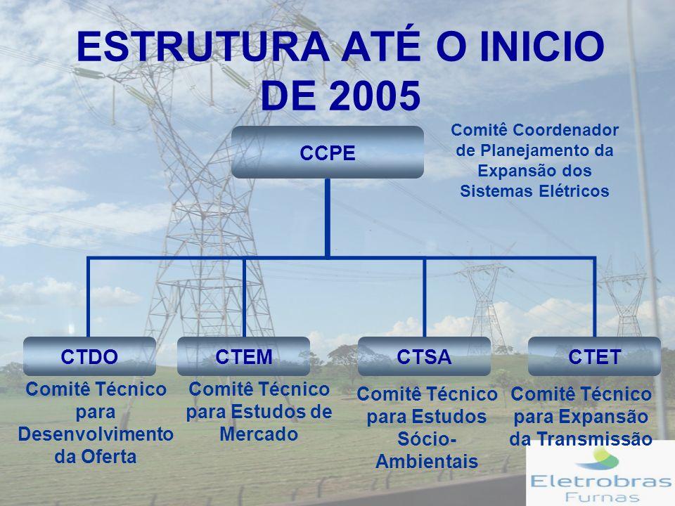 ESTRUTURA ATÉ O INICIO DE 2005
