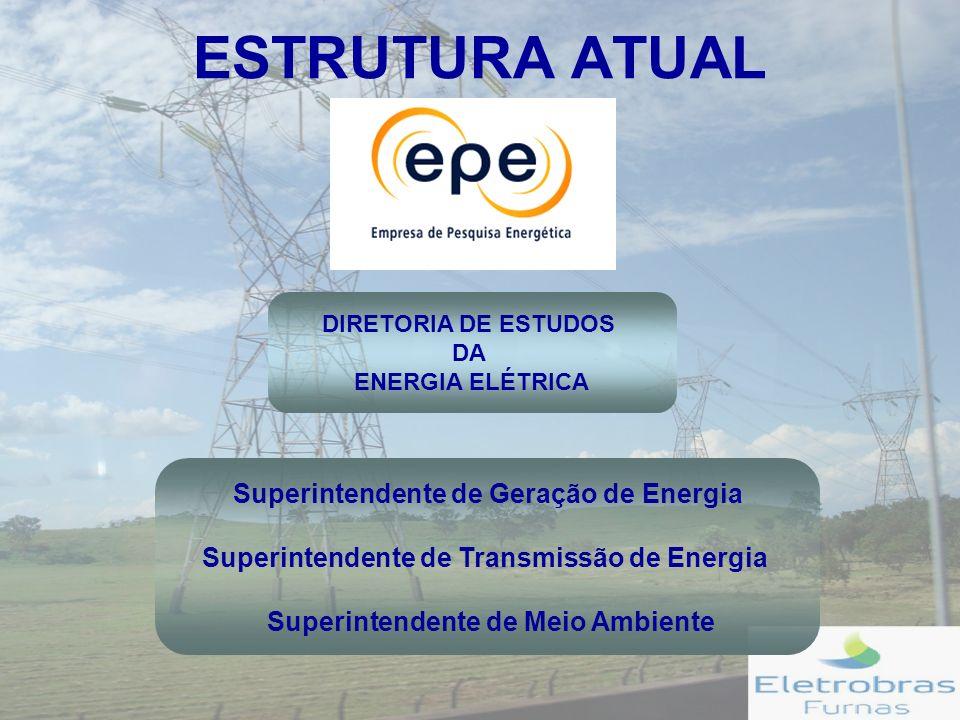 ESTRUTURA ATUAL Superintendente de Geração de Energia