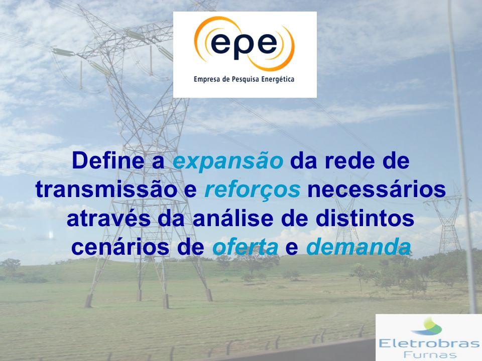 Define a expansão da rede de transmissão e reforços necessários através da análise de distintos cenários de oferta e demanda