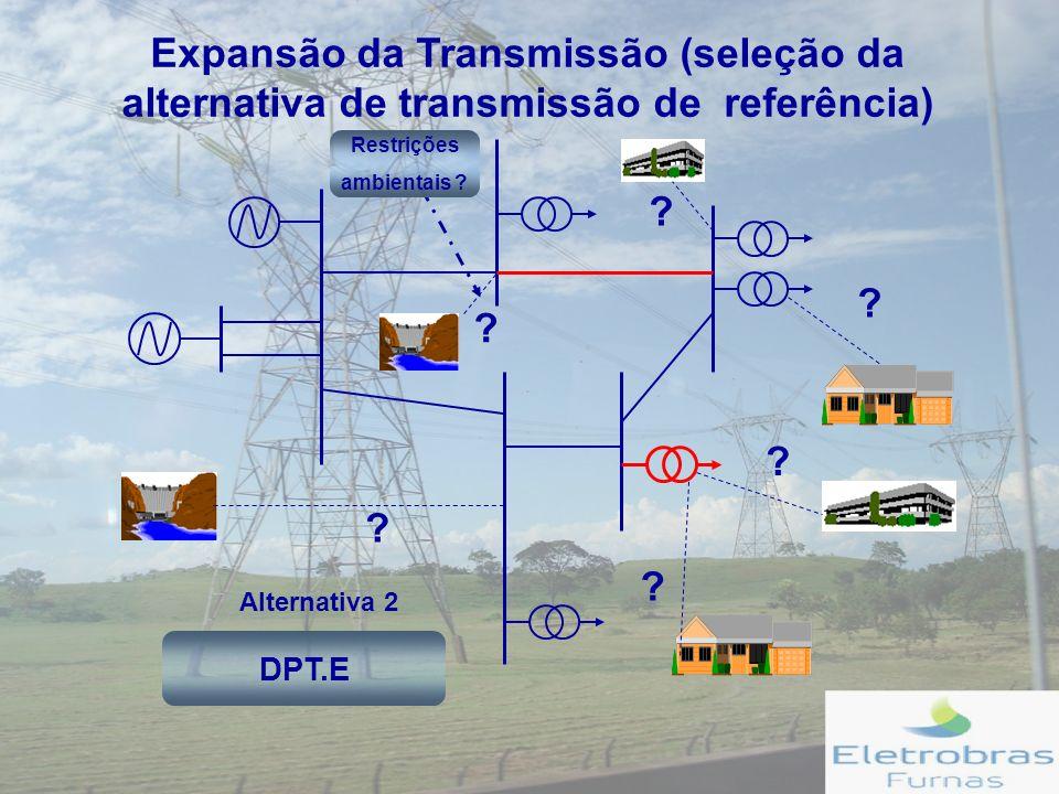 Expansão da Transmissão (seleção da alternativa de transmissão de referência)