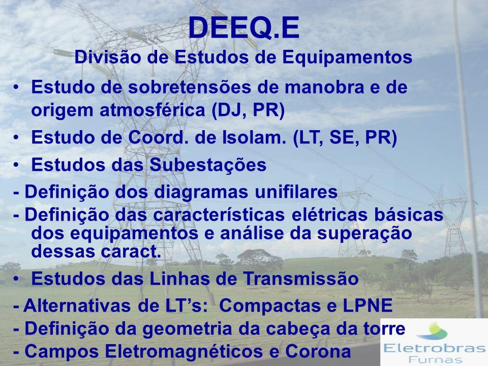DEEQ.E Divisão de Estudos de Equipamentos