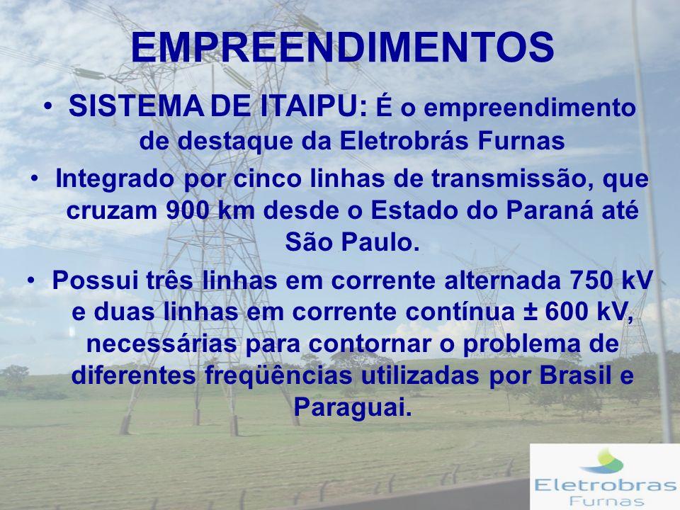 SISTEMA DE ITAIPU: É o empreendimento de destaque da Eletrobrás Furnas