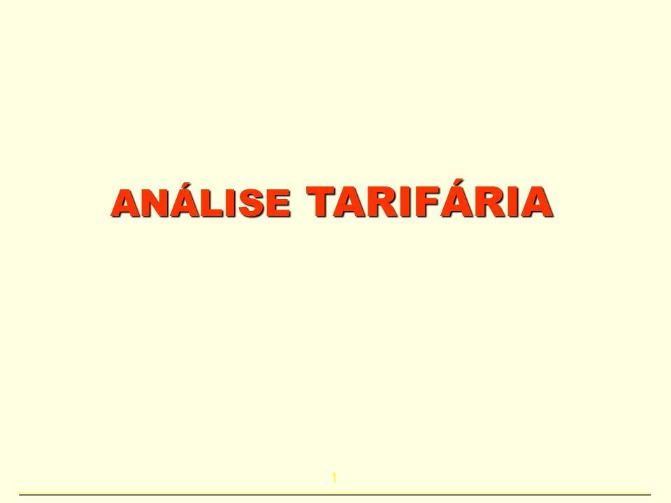 ANÁLISE TARIFÁRIA