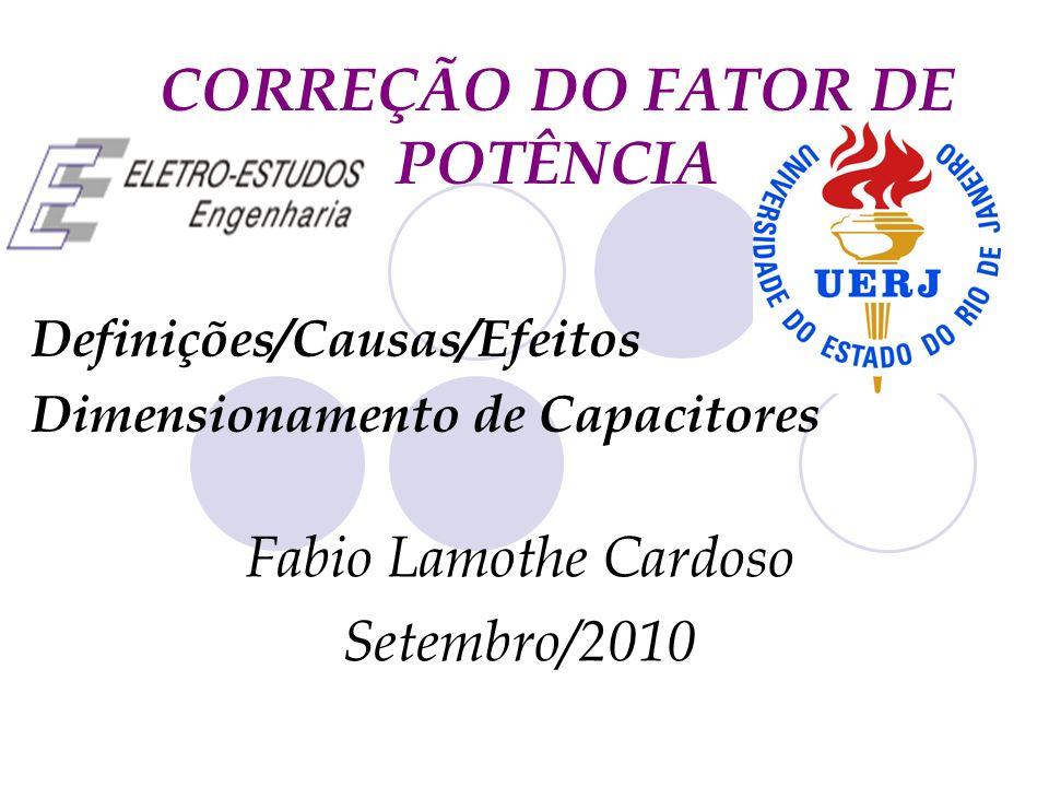 CORREÇÃO DO FATOR DE POTÊNCIA