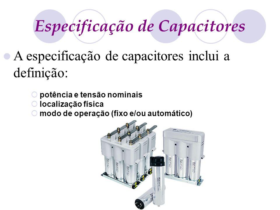 Especificação de Capacitores