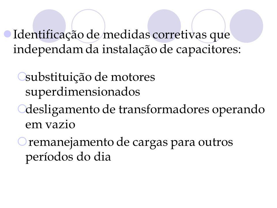 Identificação de medidas corretivas que independam da instalação de capacitores: