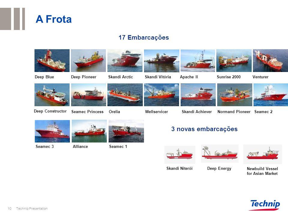 A Frota 17 Embarcações 3 novas embarcações Deep Blue Deep Pioneer