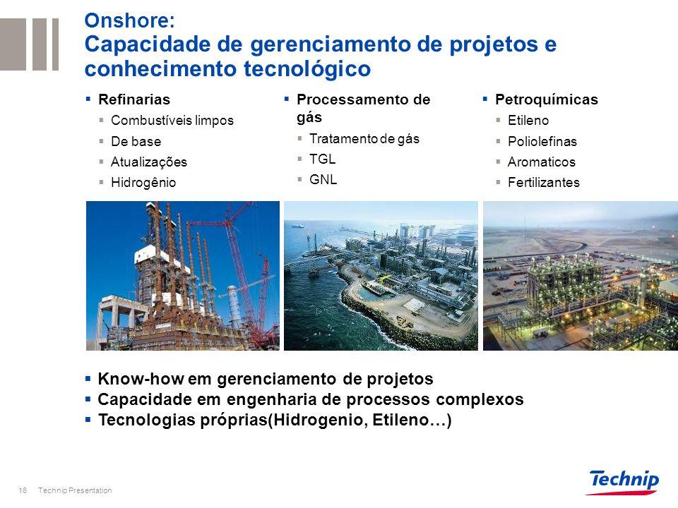 Onshore: Capacidade de gerenciamento de projetos e conhecimento tecnológico